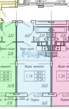 Продается квартира в строящемся доме, в 12 км от МКАД, в поселке Коре