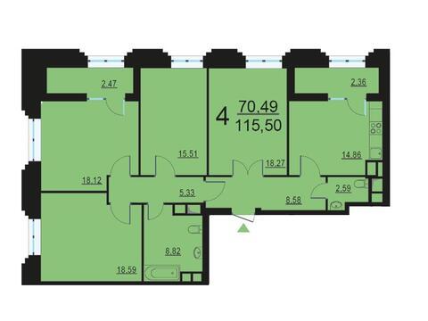 Москва, 4-х комнатная квартира, ул. Берзарина д.28, 23334696 руб.