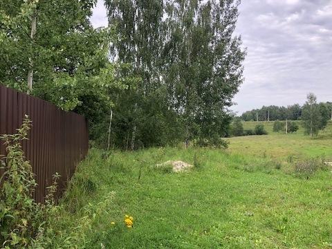 Участок с газом, 20 соток, с ландшафтом, д. Змеевка, Чеховский район