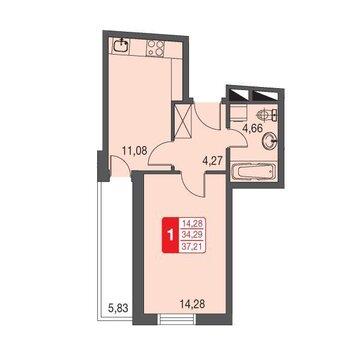 Москва, 1-но комнатная квартира, ул. Живописная д.12, 2417508 руб.