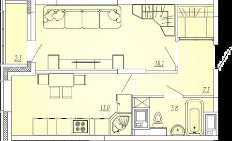 Мытищи, 1-но комнатная квартира, Ярославское ш. д.73, 3490000 руб.