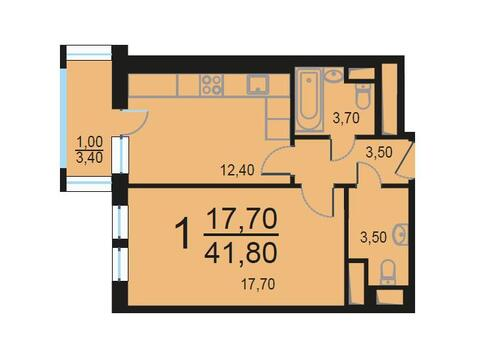 Москва, 1-но комнатная квартира, Внутренний проезд д.8с1, 8918908 руб.