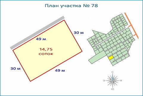 Участок 14,7 соток в кп, ипотека, рассрочка, 10 км от ЗЕЛАО г. Москвы