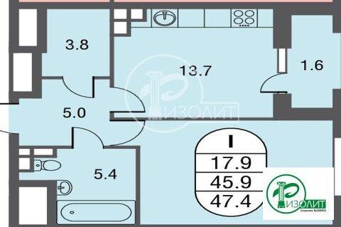 """1-комнатная квартира, 47 кв.м., в ЖК """"ЗИЛАРТ"""""""