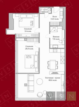 "3-комнатная квартира, 121 кв.м., в ЖК ""Резиденция Тверская"""