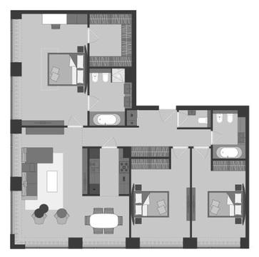 Продам 4 комн. квартиру, 136 кв.м, м.Динамо