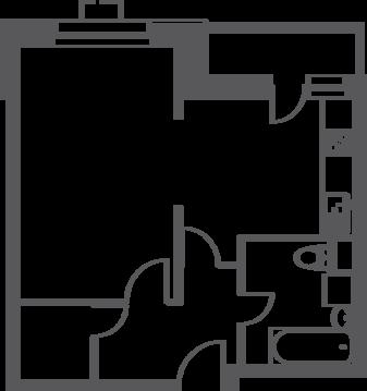 "1-комнатная квартира, 41 кв.м., в ЖК ""Лидер на Волгоградском"""