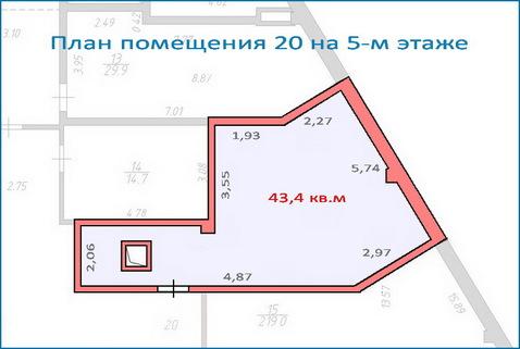 Помещение свободного назначения 43,4 кв.м в новом ТЦ, 6 км от МКАД