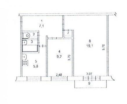 Продается 2х комнатная квартира (Московская область, м.Домодедовская)