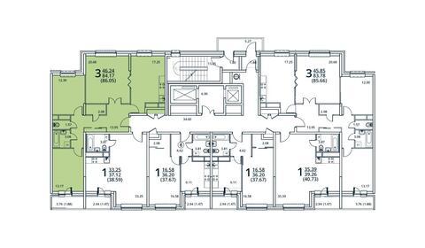 Москва, 3-х комнатная квартира, ул. Радиальная 6-я д.7, 8174750 руб.
