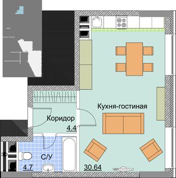 1-комнатная квартира МО город Мытищи Шараповский пр-д д.2