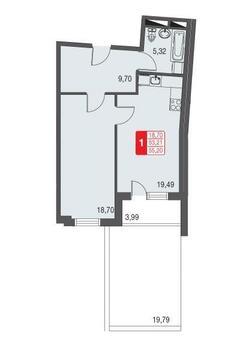 Лобня, 1-но комнатная квартира, Фрунзе д.1, 3106000 руб.
