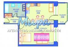 Продается просторная, светлая 1-ком. квартира в 16 секции общей площад