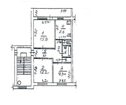Продам 3-х комнатную квартиру в поселке Кокошкино