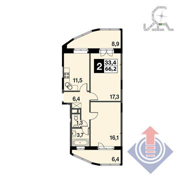"""4-комнатная квартира, 123 кв.м., в ЖК """"UP!КВАРТАЛ""""Римский"""""""