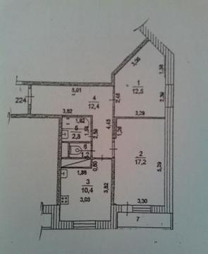 2-х комнатная квартира г. Ивантеевка, ул. Бережок, д. 14
