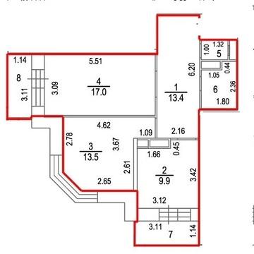 Ивантеевка, 2-х комнатная квартира, ул. Хлебозаводская д.43а, 4500000 руб.