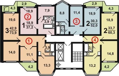 1-комнатная квартира, 39 кв.м., в ЖК «Бутово-Парк 2Б»