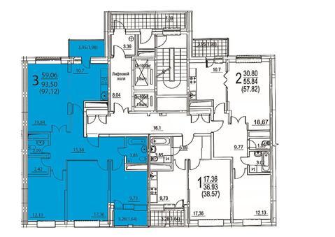 Москва, 3-х комнатная квартира, ул. Радиальная 6-я д.7, 14568000 руб.