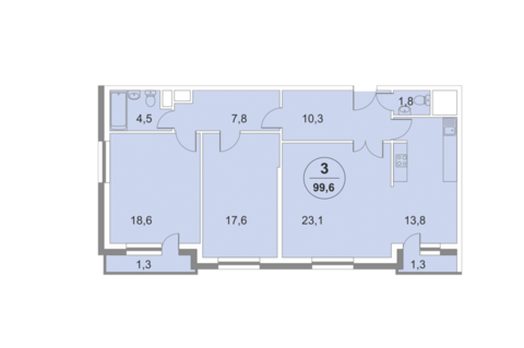 1-комнатная квартира, 47 кв.м., в ЖК «ФилиЧета-2»