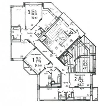 Подольск, 1-но комнатная квартира, ул. Циолковского д.58, 2500000 руб.