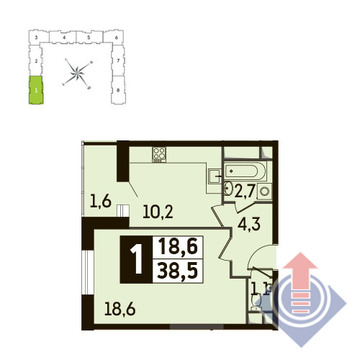 Путилково, 1-но комнатная квартира,  д., 4169550 руб.