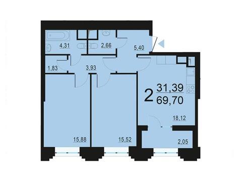 Москва, 2-х комнатная квартира, ул. Берзарина д.28с3, 13450567 руб.