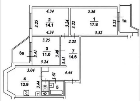 3-х ком. квартира, 79 м2, Некрасовка