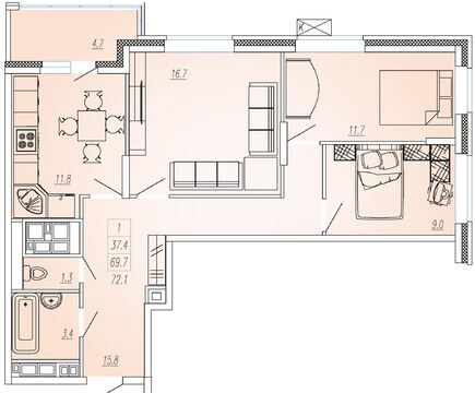 Мытищи, 3-х комнатная квартира, Ярославское ш. д.93, 5335000 руб.