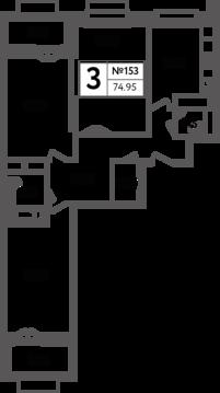 Москва, 3-х комнатная квартира, Яна Райниса б-р. д.вл.4, корп.3, 14615250 руб.