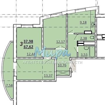 Продается 3- комн. квартира в центре города Лыткарино, ул. Первомайск