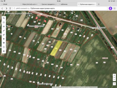 В дереве Шохово по трассе Минского шоссе, срочно продается участок .