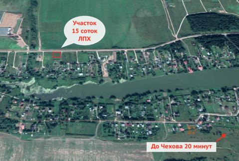 Продаю земельный участок 15 соток Чеховский район, д. Алферово. 60 км