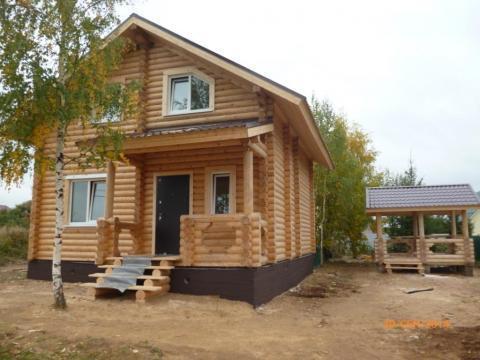 Дом 130 м2, Бревно, Беседка, 90 км по Киевскому ш.