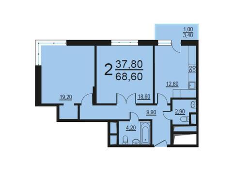 Москва, 2-х комнатная квартира, Внутренний проезд д.8с1, 13792716 руб.