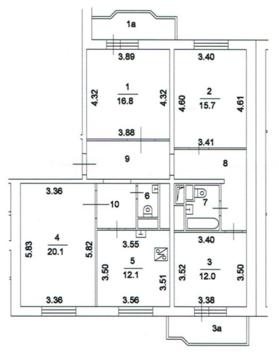 Продается просторная 4-х комнатная квартира