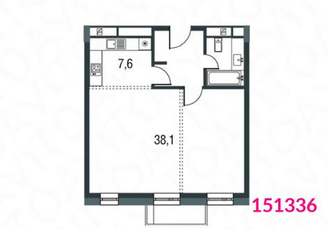 2-комнатная квартира, 57 кв.м.