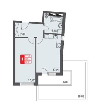 Москва, 1-но комнатная квартира, ул. Живописная д.12, 3509911 руб.