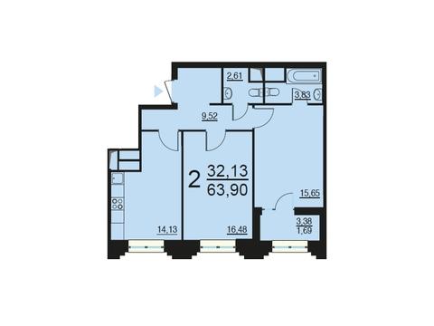 Москва, 2-х комнатная квартира, ул. Берзарина д.28, 13412610 руб.