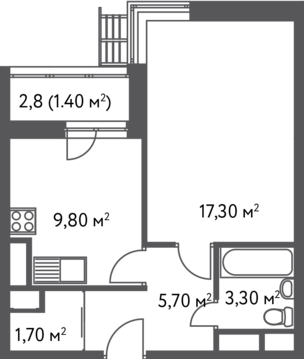 Москва, 1-но комнатная квартира, С.Ковалевской д.20, 6538560 руб.