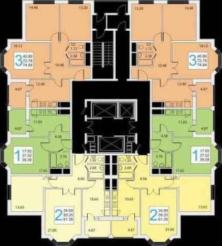 3-х Домодедово мкр. Западный, корпус 40 дом сдан. ключи выдаютсяю
