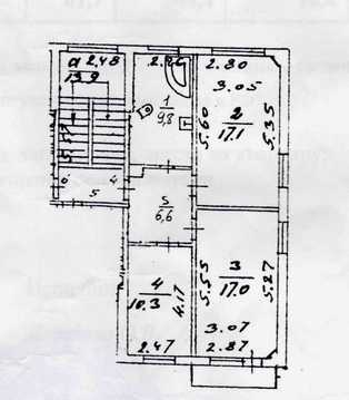 3 к.кв. г. Подольск, ул. Чайковского, д. 50