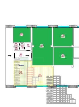Снять офис с ремонтом, 105 кв.м, в 2 минутах ходьбы от станции метро
