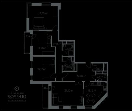 """4-комнатная квартира, 119 кв.м., в ЖК """"Дом в Олимпийской Деревне"""""""