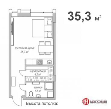 Студия 35 м2 Москва ЮЗАО райончеремушки