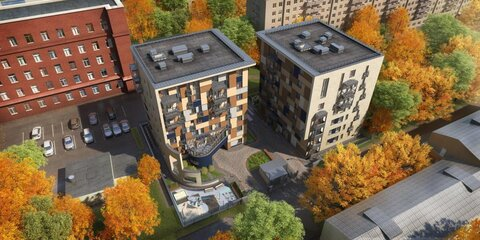 2-х уровневая квартира-студия площадью 127,30 кв.м. в ЖК Два дом