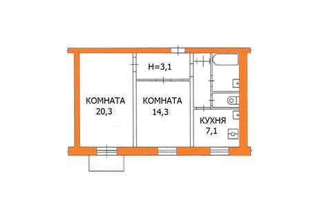 Продается 2 ком кв-ра ул. Феодосийская, д. 3