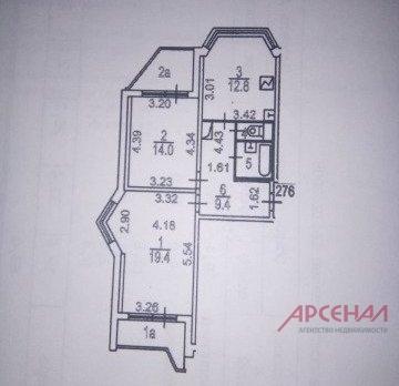 Продается 2-х комнатная квартира м. Лермонтовский проспект