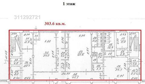 Помещение свободного назначения 1 этаж – 303.6 кв.м, арендная