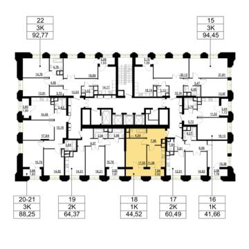 Москва, 1-но комнатная квартира, ул. Берзарина д.д. 28, корп. 1, 9414600 руб.